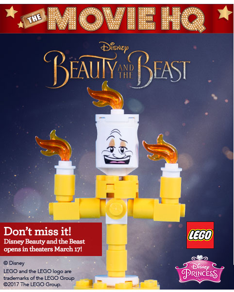"""Build your own free LEGO Lumiere at the Toys""""R""""Us Beauty and the ..."""