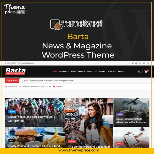 Barta – News & Magazine WordPress Theme