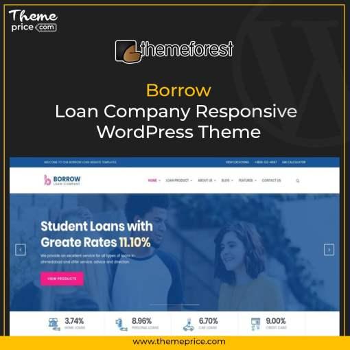 Borrow – Loan Company Responsive WordPress Theme