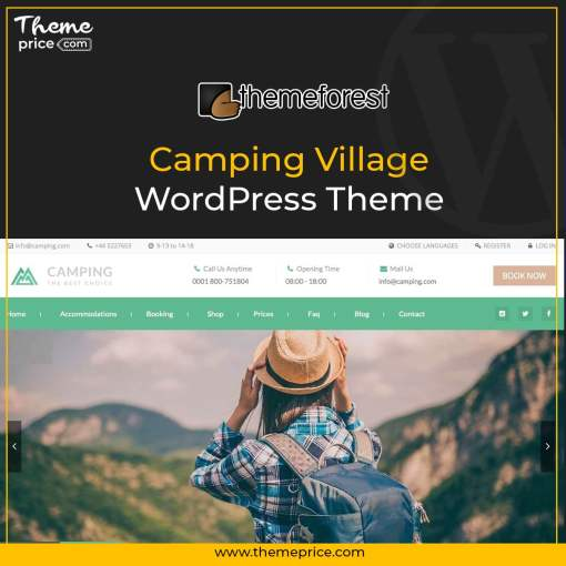 Camping Village WordPress Theme