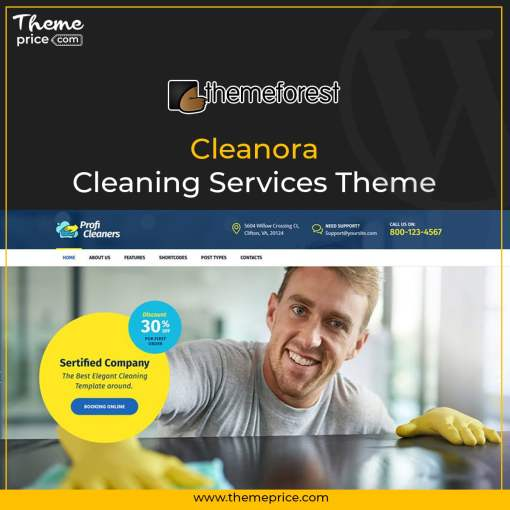 Cleanora – Cleaning Services Theme