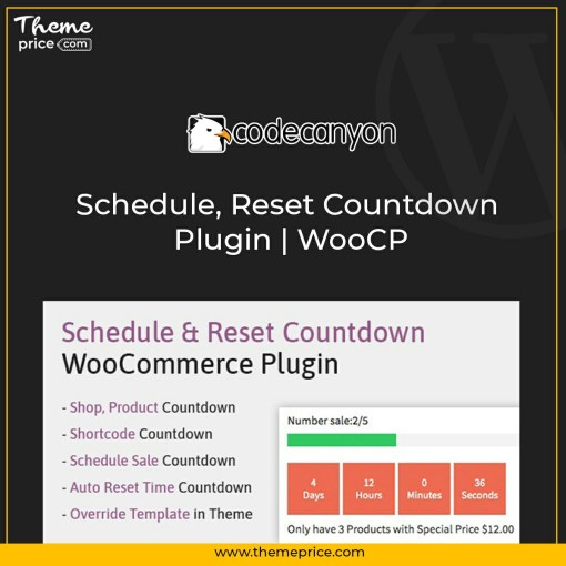 Schedule, Reset Countdown Plugin | WooCP