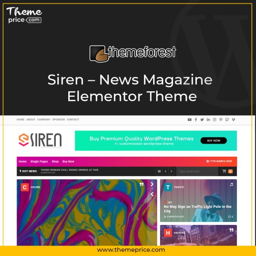 Siren – News Magazine Elementor Theme