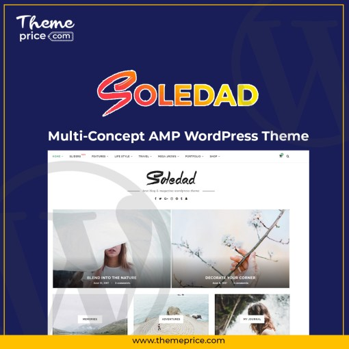 Soledad Multi-Concept AMP WordPress Theme
