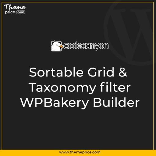 Sortable Grid & Taxonomy filter – WPBakery Builder