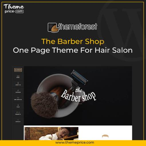 The Barber Shop – One Page Theme For Hair Salon