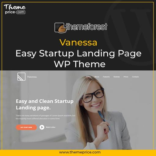 Vanessa – Easy Startup Landing Page WP Theme