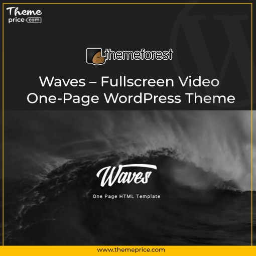 Waves – Fullscreen Video One-Page WordPress Theme