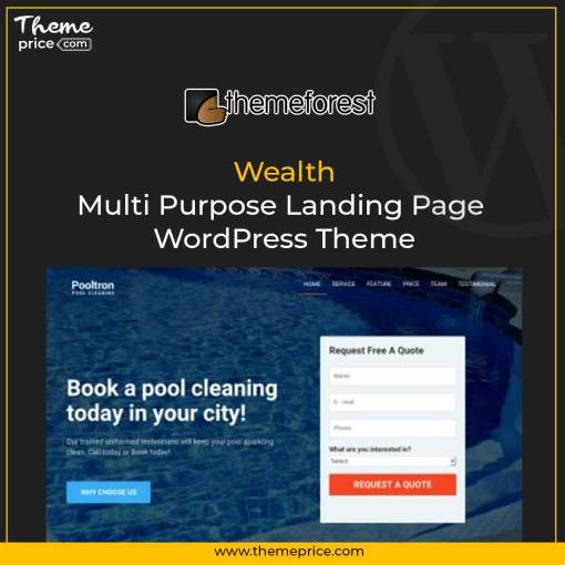 Wealth – Multi Purpose Landing Page WordPress Theme