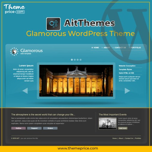 Glamorous WordPress Theme