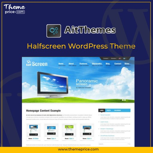 Halfscreen WordPress Theme