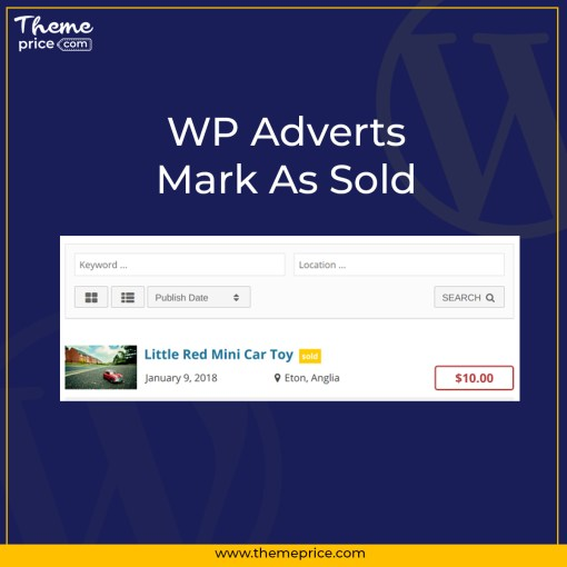 WP Adverts – Mark As Sold