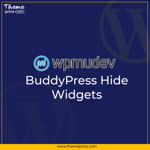 WPMU DEV BuddyPress Hide Widgets