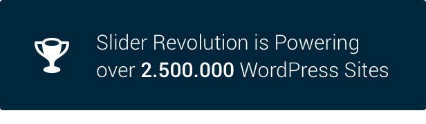Slider Revolution 2.500.000 WordPress Sites