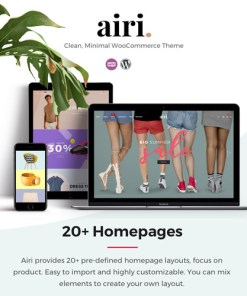 Airi Clean Minimal WooCommerce Theme