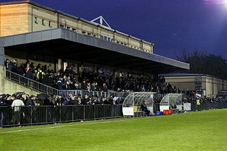 Main stand at Woodwarde Road.