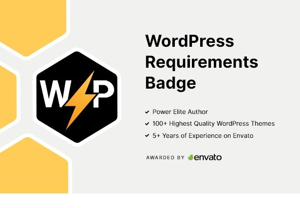 WordPress Requirements Badge