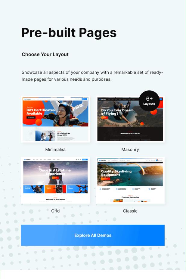 SkyCaptain   Skydiving & Extreme Flying Sports WordPress Theme - 2