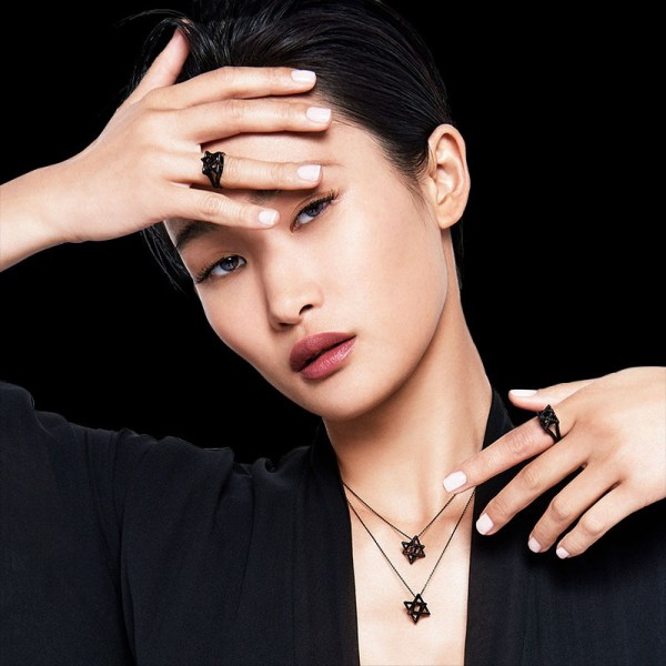 Merkaba Black Platinum Ring Fine Jewelry