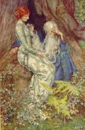 Merlino e Viviana - Eleanor Fortesque-Brickdale 1911