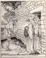 Merlino e Artù bambino - Arthur Rackham 1917
