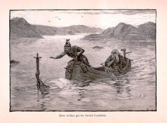 Merlino ed Excalibur - Alfred Kappes 1880