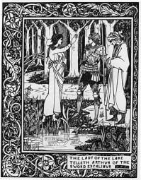 Merlino ed Excalibur - Aubrey Beardsley 1893-1894