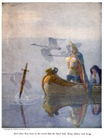Merlino ed Excalibur - N. C. Wyeth 1917