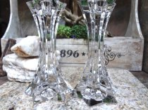Crystal candlesticks, by EstateVintTreasures on etsy.com