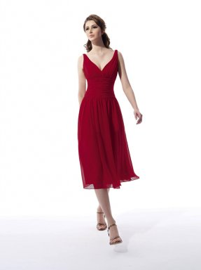 Red bridesmaid dress, from modatown.com