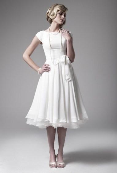 tea-length dress