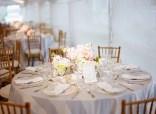 Blush pink and grey wedding reception