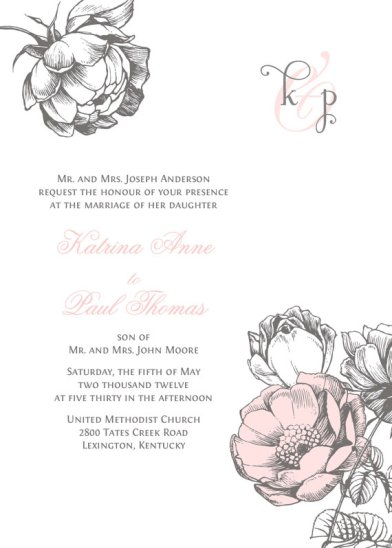 Invitation, by paperimpressions on etsy.com