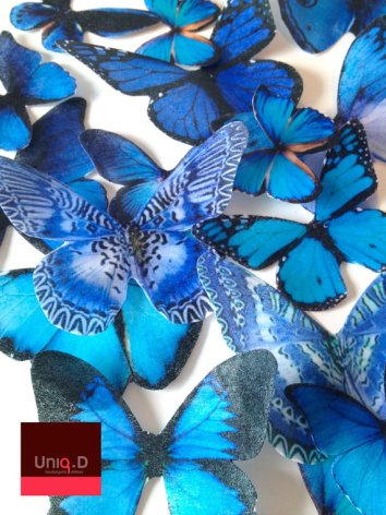 Edible butterflies, by uniqdots on etsy.com