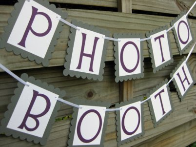 Photobooth banner, by craftyearth on etsy.com