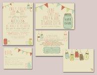 Rustic invitation set, by SplashOfSilver on etsy.com