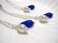 Seaglass bridesmaid necklaces, by SeaglassGallery on etsy.com