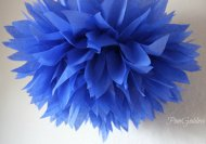 Tissue paper pompoms, by PomGoddess on etsy.com
