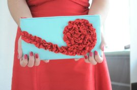 Clutch purse, by thesocialseam on etsy.com