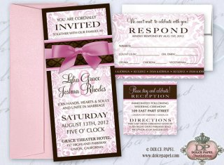 Invitation, by DolcePapel on etsy.com