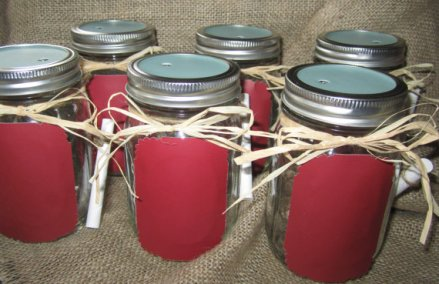 Mason jars, by Sunflowersplus on etsy.com
