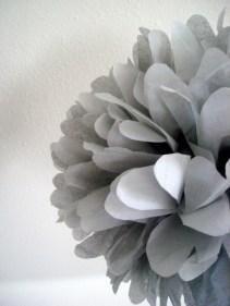 Tissue paper pompoms, by PomLove on etsy.com