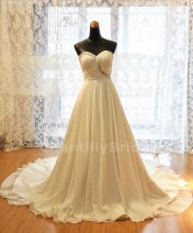 A-line chiffon dress - US$209, by ChantillyBridal on etsy.com
