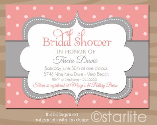 Bridal shower invitation, by starwedd on etsy.com