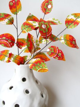 Fabric leaf branches, by janejoss on etsy.com