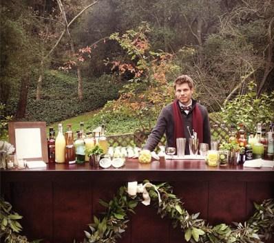 Outdoor bar at Cacee Cobb and Donald Faison's wedding