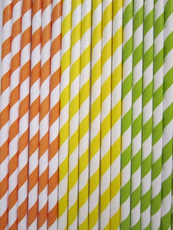 Paper straws, by DKDeleKtables on etsy.com