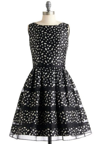 Rose Bubbly Dress In Noir, from modcloth.com