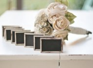 Rustic wedding chalkboards, by braggingbags on etsy.com