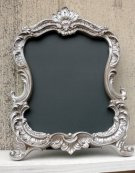 Taupe Baroque-style chalkboard